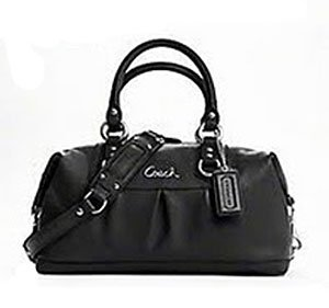 Coach Leather Ashley Sabrina Convertiable Satchel Bag 15445 Black