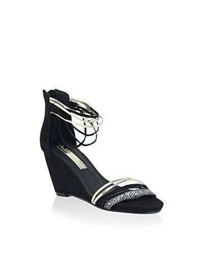 XTI Keil Sandalette schwarz