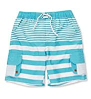 Striped Ripstop Swim Shorts