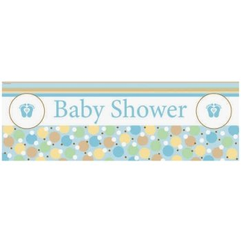 Tiny Toes Blue Giant Banner front-109488