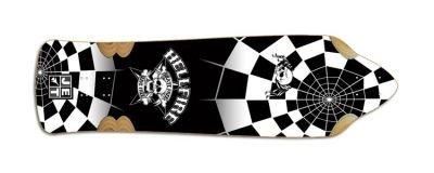 Jet Skateboard Longboard Hellfire by Jet Cobra SpiderCross Longboard Deck 9.85 x 35.5