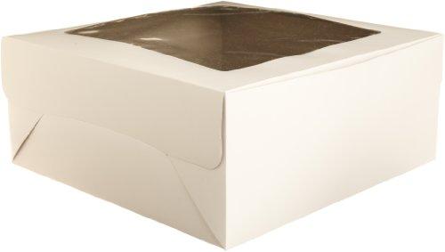 Wilton White Window Cake Box, 14 by 14 by 6-Inch