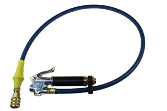 Coilhose Pneumatics TGC129 Inflator Gauge 10-120 PSI with 36-Inch Length Hose, Lock-On Chuck