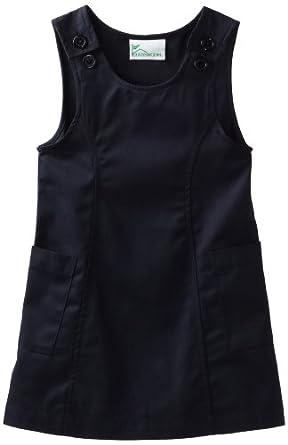 Classroom Big Girls'  Princess Seam Printed Jumper Dress, Navy Blue, 8