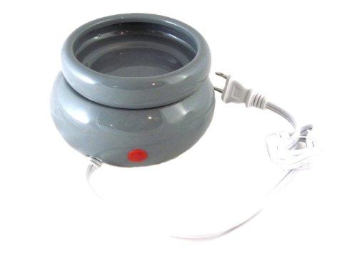 Biedermann & Sons Stoneware Electric Wax/Oil Warmer, Gray