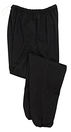 Jerzees 9 oz Sweatpant w Pockets (4850MP) Super Sweats Available in 8 Colors Small Black