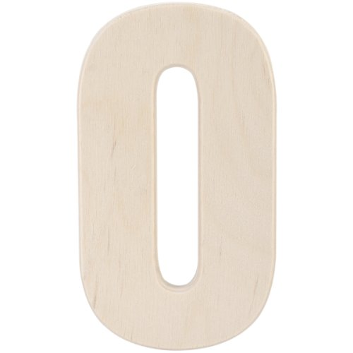 MPI Baltic Birch University Font Letters and Numbers, 5-Inch, Number 0 (5 Inch Wood Numbers compare prices)