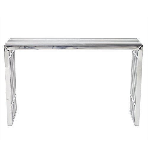 LexMod Gridiron Stainless Steel Console Table (Console In Furniture compare prices)