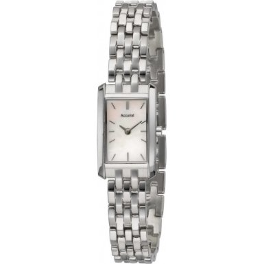 Accurist Ladies Quartz Watch With Mother Of Pearl Dial Analogue Display And Other Bracelet LB1390P