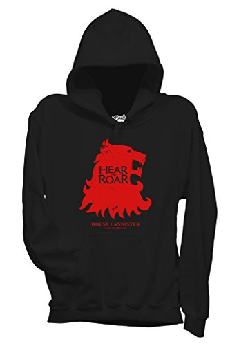 Felpa HEAR ME ROAR - LANNISTER - GAME OF THRONES - FILM by MUSH Dress Your Style - Donna-S-NERA