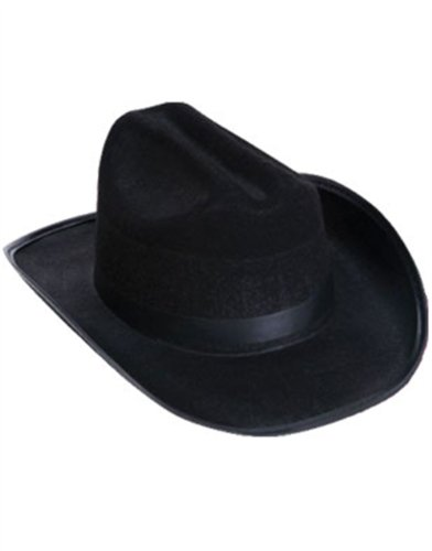 New Child Country Black Cowboy Cow Boy Felt Costume Hat - 1