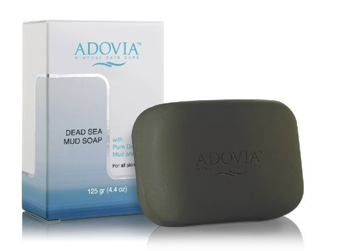 Adovia Natural Dead Sea Mud Soap - Great for Eczema, Psoriasis or Acne! 125 GR (4.4OZ)