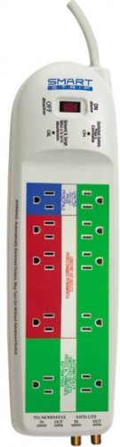 Smart Strip Lcg5 Energy Saving Power Strip With Auto-Switching Technology And Modem/Coaxial Surge Protection
