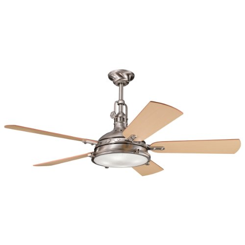 Kichler Lighting 300018BSS 56-Inch Hatteras Bay Ceiling Fan, Brushed Stainless Steel