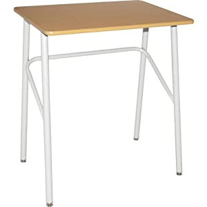 """9900 Series Study Desk - Fusion Maple Top - Putty Frame - 30""""H"""