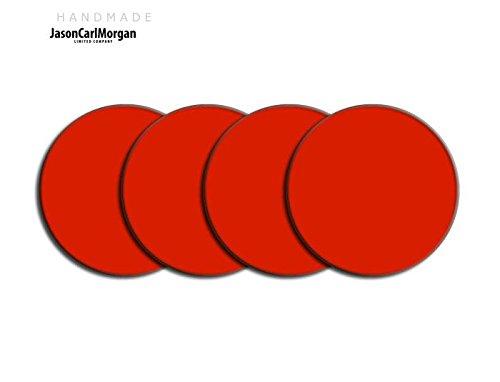 Centre de roue en alliage PAC Badges pour Skoda Honda mg (Clr 57mm), autocollant, rouge