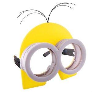 [DESPICABLE ME MINION MINIONS COSTUME GOGGLES GLASSES W/ YELLOW HEAD GOOGLE MASK] (Google Glass Costume)