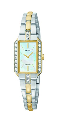 Seiko Solar Two-Hand Stainless Steel - Two-Tone Women's watch #SUP234