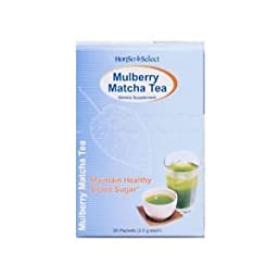Honso USA Japanese Herbal Kampo Mulberry Matcha Tea, 20 Count