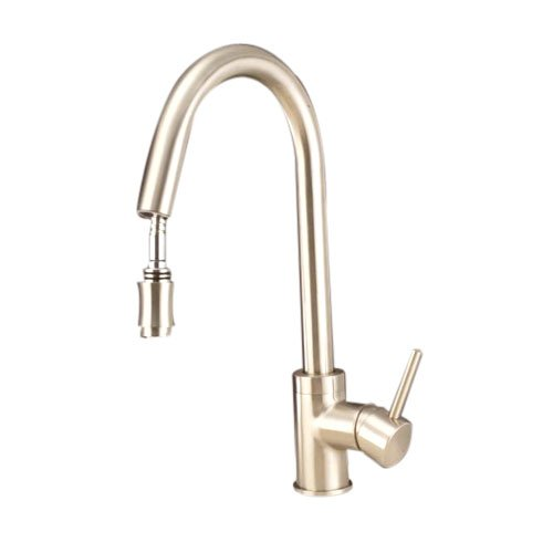 Single Handle Centerset Pull Down Kitchen Faucet,Nickel Brushed