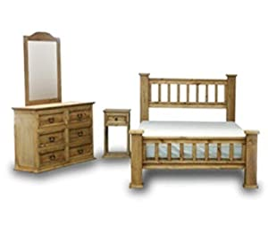 Queen Rustic Mission Bedroom Set