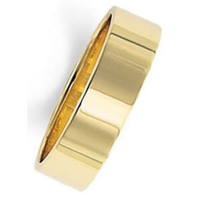 Gold Wedding Band Ring 14Kt Yellow in 6.0 Millimeters, Comfort Fit Style FCF06 on sale, Finger Size 6