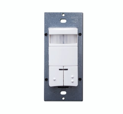 Leviton ODS0D-INR Dual Relay, Photocell, 180 Degree field of view, CEC Title 24 Compliant, NAFTA, Passive Infrared Wallbox Occupancy Sensor, Red