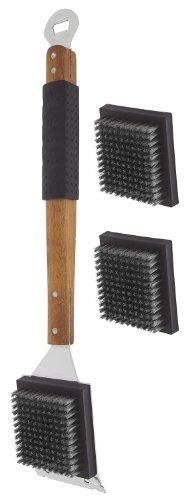 Mr Bar B Q-Mr. Bar-B-Q Oversized Finger/Rubber Grip Grill Brush Set