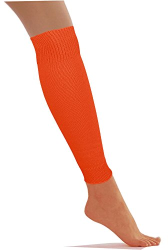 Low Cost Dancewear Leg Warmers Available in Various Colours (Orange)