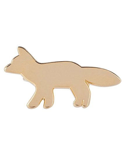 MAISON KITSUNE [ メゾン キツネ ] FOX BROOCH(キツネ ブローチ バッチ アクセサリー) フリーサイズ ゴールド