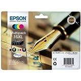 Epson 16XL Original Multipack Ink Cartridges (Pen & Crossword) T1636 for Epson WorkForce Printers WF 2010W, WF 2510WF, WF 2520NF, WF 2530WF, WF 2540WF.