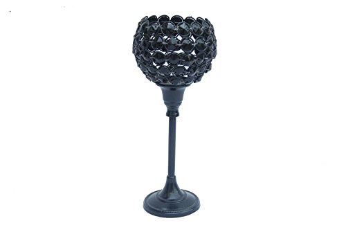 Ruhi Collections Black Metal Decorative Candle Holder For Home Décor