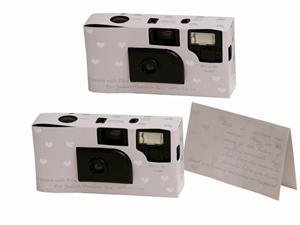 20 Mini HEART Wedding Disposable Cameras Favors 27 exp
