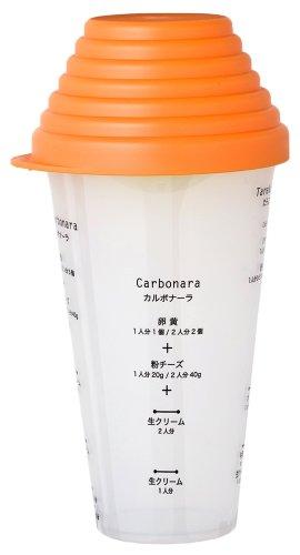 reina カルボシェーカー 【メモリに合わせて材料を入れて振るだけ】 オレンジ RJ118KT28-OR reacJAPAN (レアック・ジャパン)
