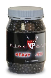 King Arms 6mm airsoft BBs, 0.43g, 2000 rds, black