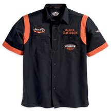 Harley Davidson Men's Short Sleeve Garage Style Shirt. LIMITED EDITION FOR 2008. Button front shirt with two front button pockets. Colorblock design around sleeves. Left chest embroidery. Embroidered patches on front chest and left sleeve and large embroidered graphic on back. 100% cotton twill. 96244-08VM - Buy Harley Davidson Men's Short Sleeve Garage Style Shirt. LIMITED EDITION FOR 2008. Button front shirt with two front button pockets. Colorblock design around sleeves. Left chest embroidery. Embroidered patches on front chest and left sleeve and large embroidered graphic on back. 100% cotton twill. 96244-08VM - Purchase Harley Davidson Men's Short Sleeve Garage Style Shirt. LIMITED EDITION FOR 2008. Button front shirt with two front button pockets. Colorblock design around sleeves. Left chest embroidery. Embroidered patches on front chest and left sleeve and large embroidered graphic on back. 100% cotton twill. 96244-08VM (Harley Davidson Mens Shirts, Harley Davidson Mens Shirts Mens Shirts, Apparel, Departments, Men, Shirts, Mens Shirts)