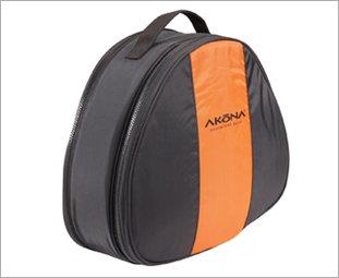 Akona Collapsing Mesh and Regulator Duffel Bag,Black/Orange