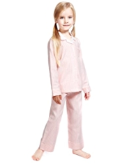 Autograph Pure Cotton Striped Pyjamas