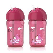 Philips AVENT 12 oz 2 Pack Straw Cup 12oz 2pk (18M+) - Girl - 1