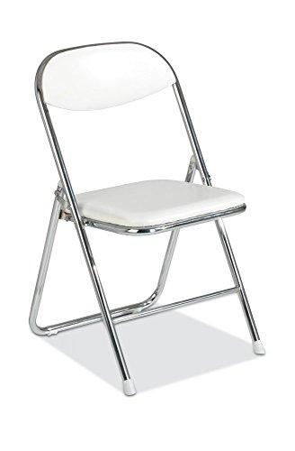 klappstuhl stuhl kunstleder wei belise. Black Bedroom Furniture Sets. Home Design Ideas