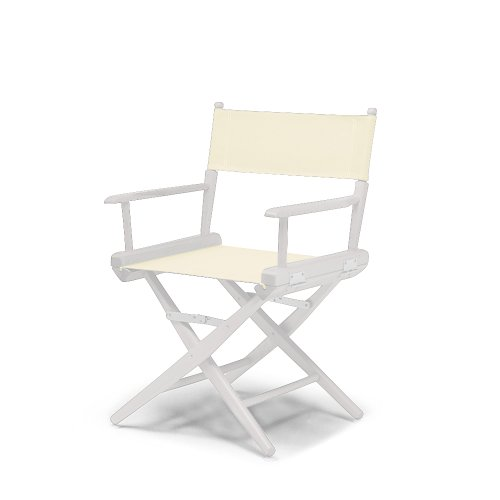 Telescope Casual World Famous Dining Height Director Chair, Natural With White Frame
