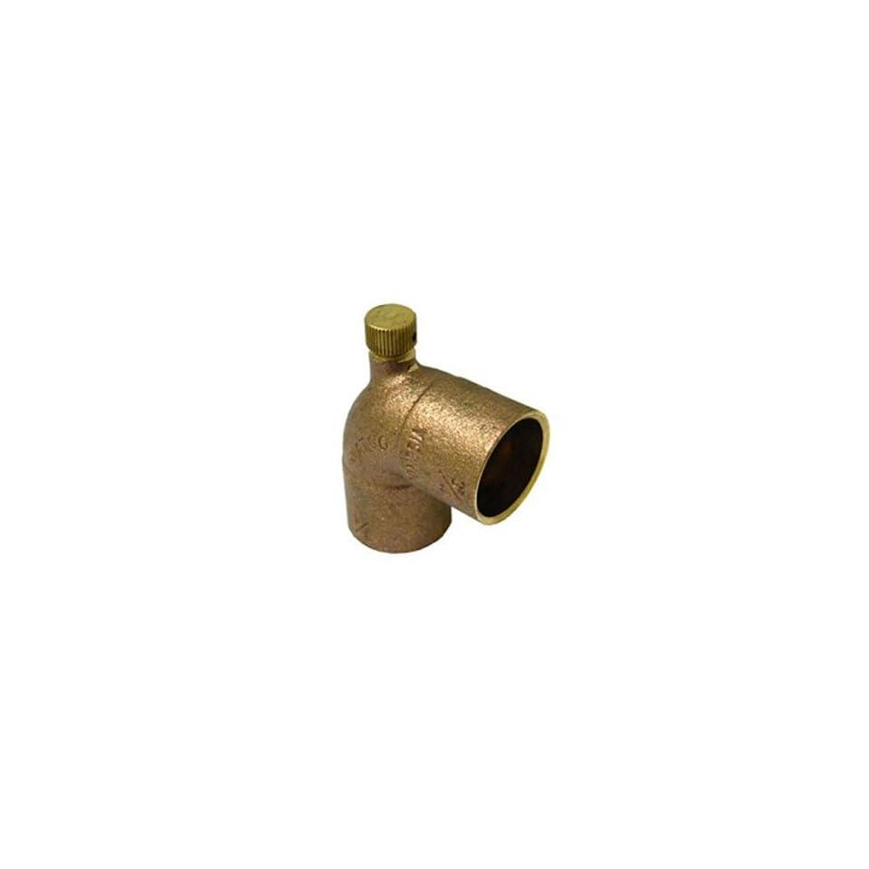 3/4 C X 1/8 MPT X 3/4 C Cast Brass Baseboard Tee w/Vent Cap