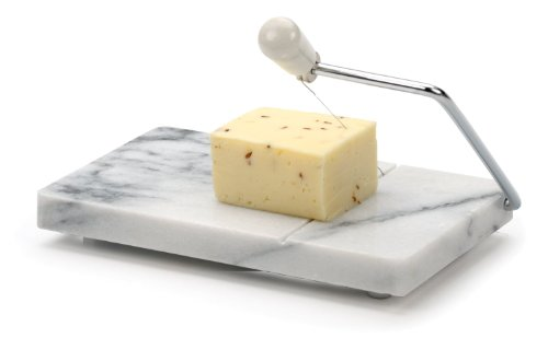 Rsvp White Marble Cheese Slicer Board