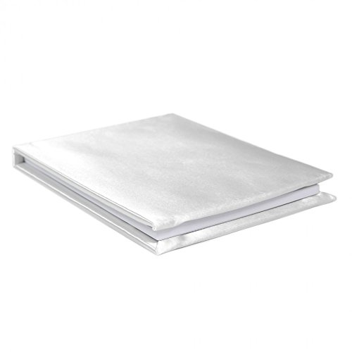 Koyal Wholesale Satin Guest Book, 3000 Signatures, White