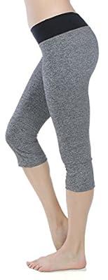 Emmalise Women's Yoga Gym Workout Capri Short Legging Pants Bottom
