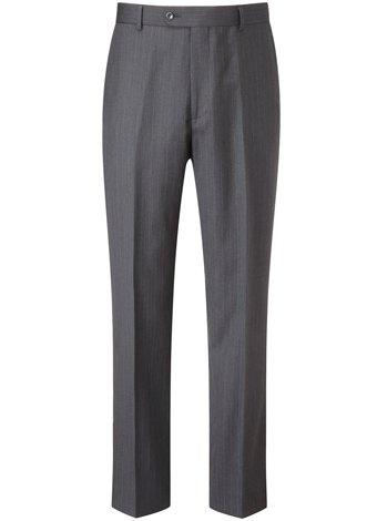 Austin Reed Regular Fit Charcoal Stripe Trouser REGULAR MENS 38