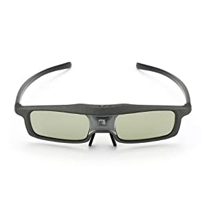 SainSonic Rainbow Series Black 3D Active Rechargeable Shutter Glasses for Mitsubishi, Samsung, Acer, BenQ, Optoma, Dell, Vivitek, NEC, Sharp, ViewSonic DLP-Link Projector and 3D Ready DLP HDTV