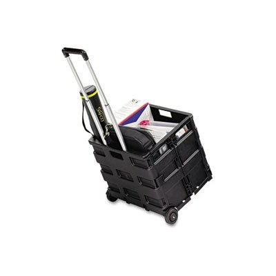 Safco Products Stow Away Crate, Black, 4054Bl front-725836