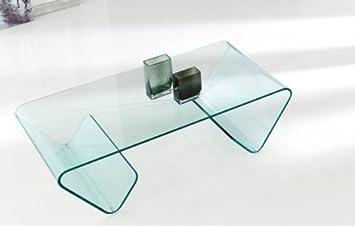 Mesa de centro cristal curvado Susi
