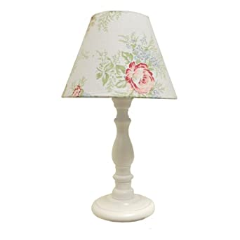 rose floral chintz shade table lamp lighting. Black Bedroom Furniture Sets. Home Design Ideas